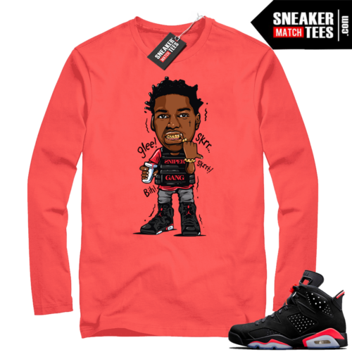 Infrared 6s Kodak Glee long sleeve shirt
