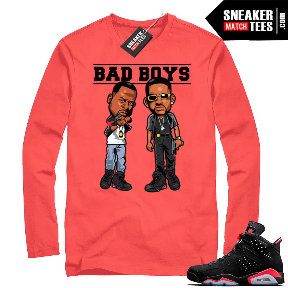 Infrared Jordan 6 long sleeve shirt
