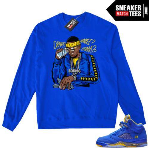 Jordan 5 Laney Royal Soulja Boy sweater