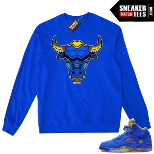 Jordan 5 Laney Royal Sweater match