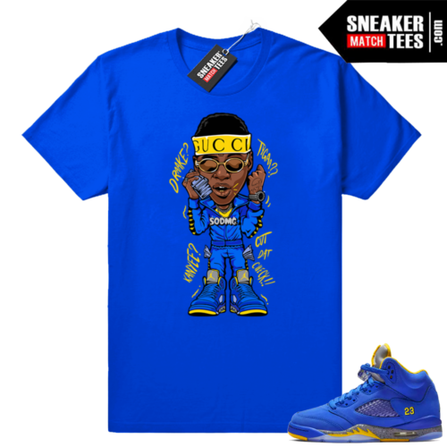 Jordan 5 Laney Royal sneaker tees shirt
