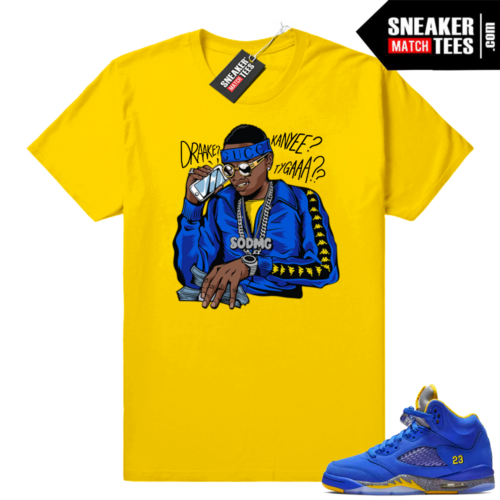 Jordan 5 Laney Royal sneaker tees shirts