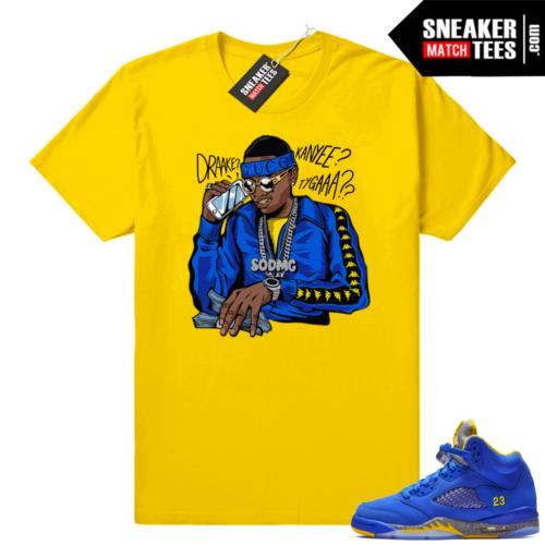 Jordan 5 Laney Royal sneaker tees shirts