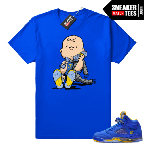 Jordan 5 Laney Royal t shirt