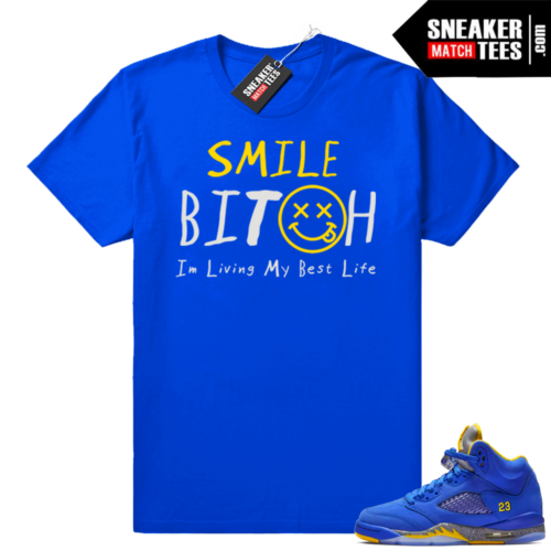 Jordan 5 Laney Varsity Royal t-shirt