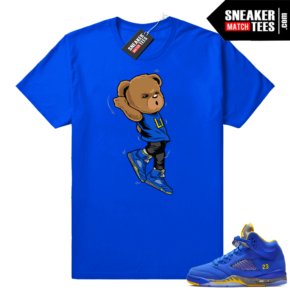 Jordan 5 Laney shirts royal