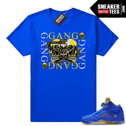 Jordan 5 Laney sneaker match tees