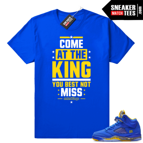 Jordan 5 Laney sneaker shirt match
