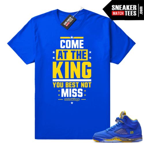 Jordan 5 Laney sneaker shirt match