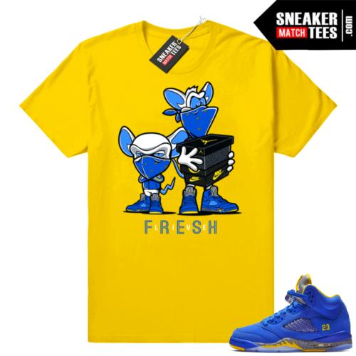 Jordan 5 Laney sneaker shirts