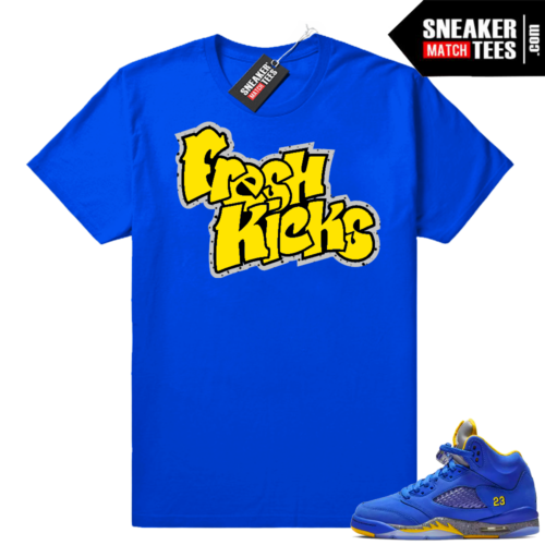 Jordan 5 Royal Laney shirts