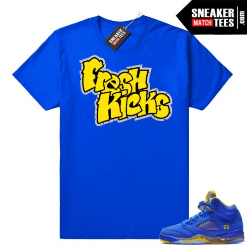 Jordan 5 Royal Laney shirts