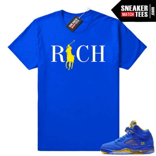 Jordan 5 laney varsity royal shirts