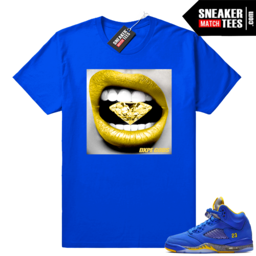Jordan 5 sneaker tees Laney royal