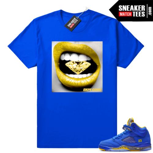 Jordan 5 sneaker tees Laney royal