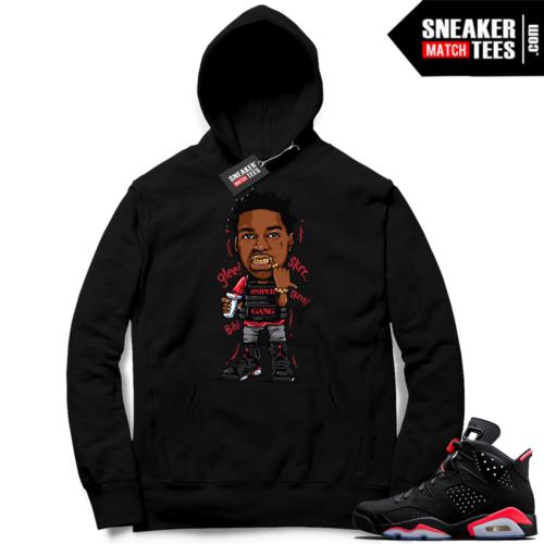 Jordan 6 Black infrared Hoodie