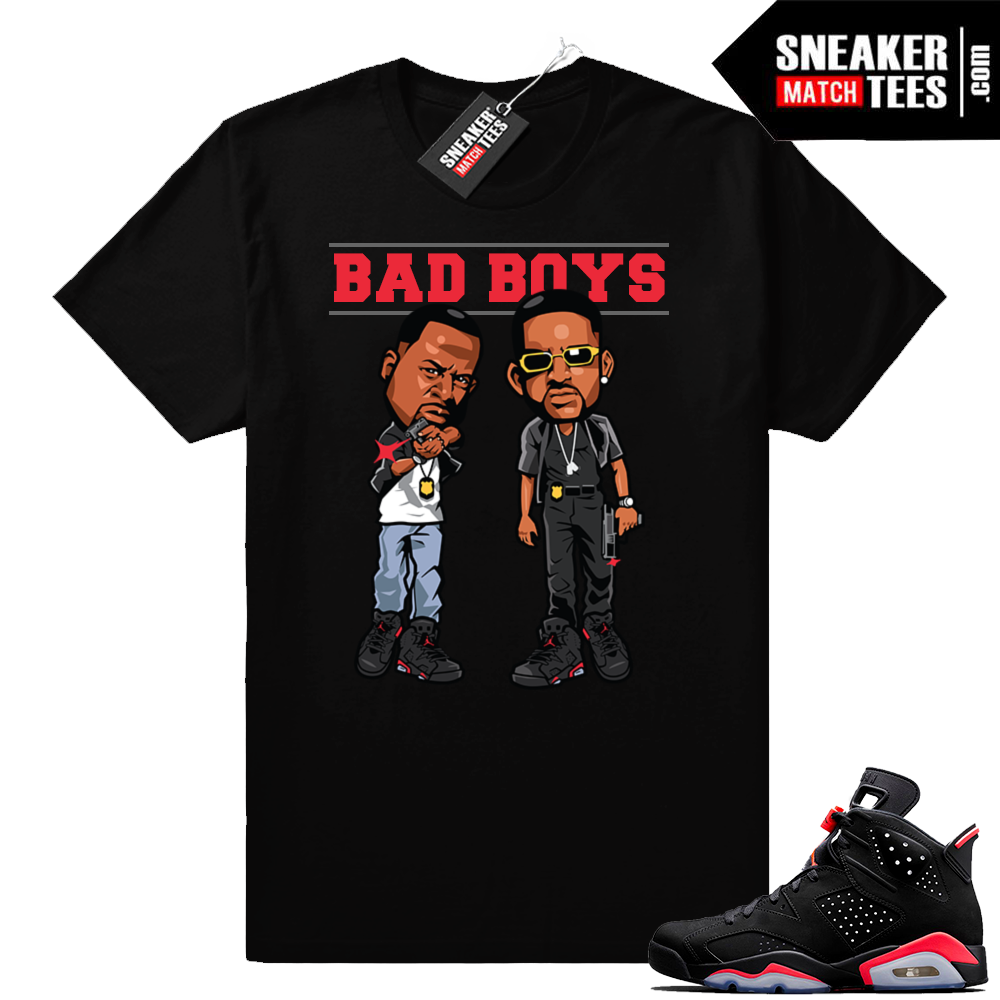 Jordan 6 Infrared Black t-shirt