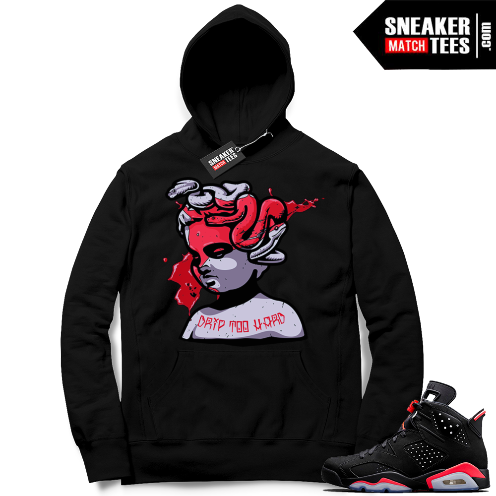 Jordan 6 hoodie black infrared