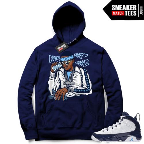 Jordan 9 Hoodie Pearl Blue