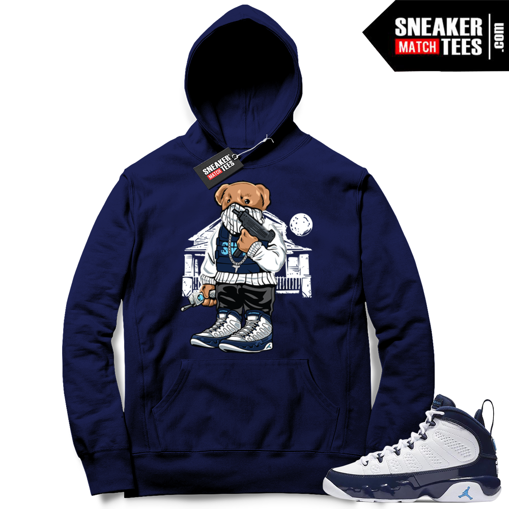 Jordan 9 Hoodie UNC   Jordan Sneaker