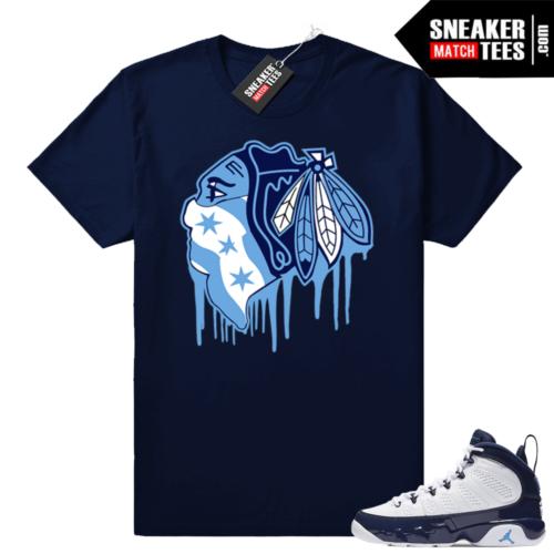 Jordan 9 UNC Hawks Drip t-shirt