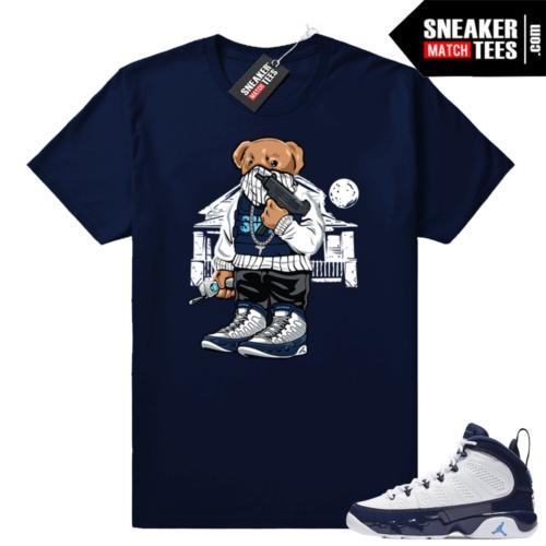 Jordan 9 UNC Navy t-shirt