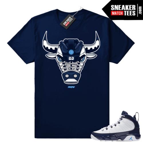 Jordan 9 UNC Pearl blue t-shirt match
