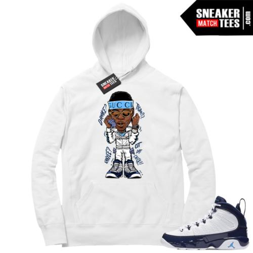 Jordan 9 UNC White Hoodie