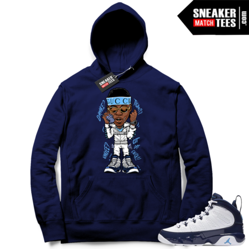 Jordan 9 UNC matching Hoodie