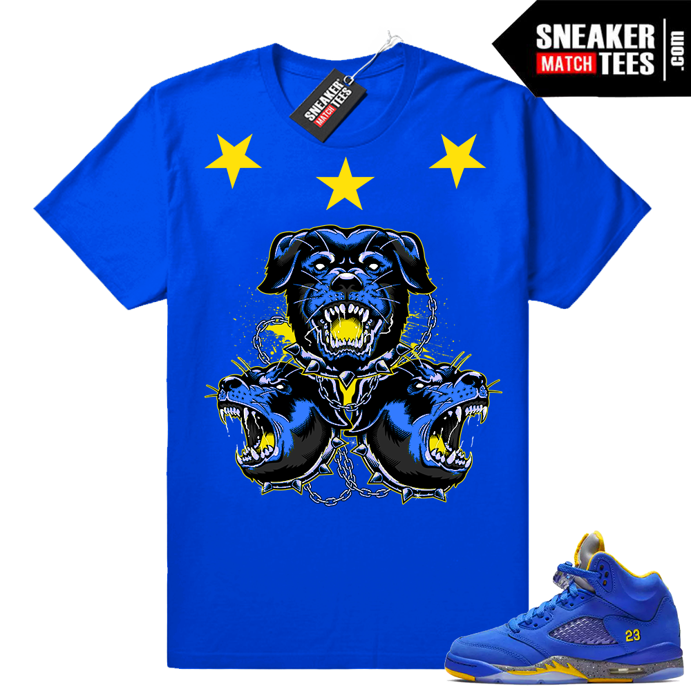 Laney 5s sneaker match tees