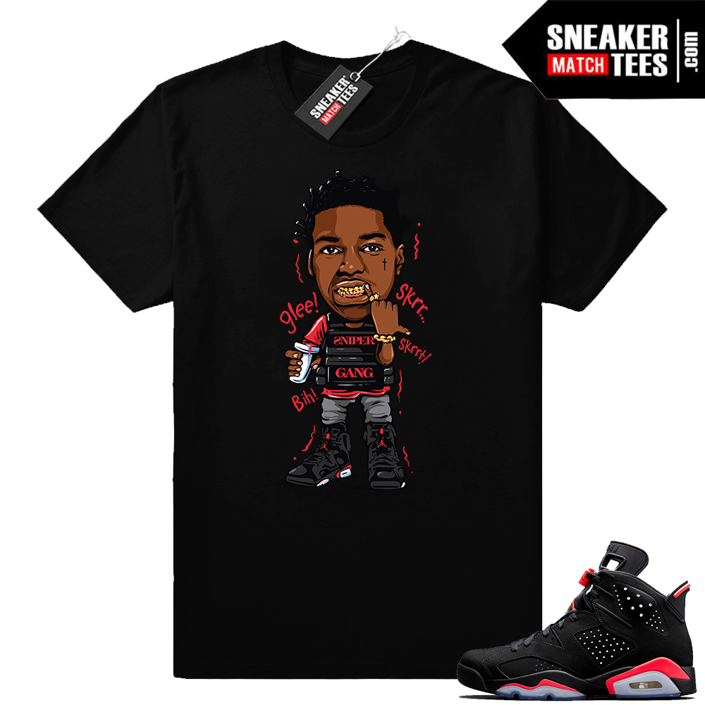 Match Black Infrared 6s Kodak Glee shirt