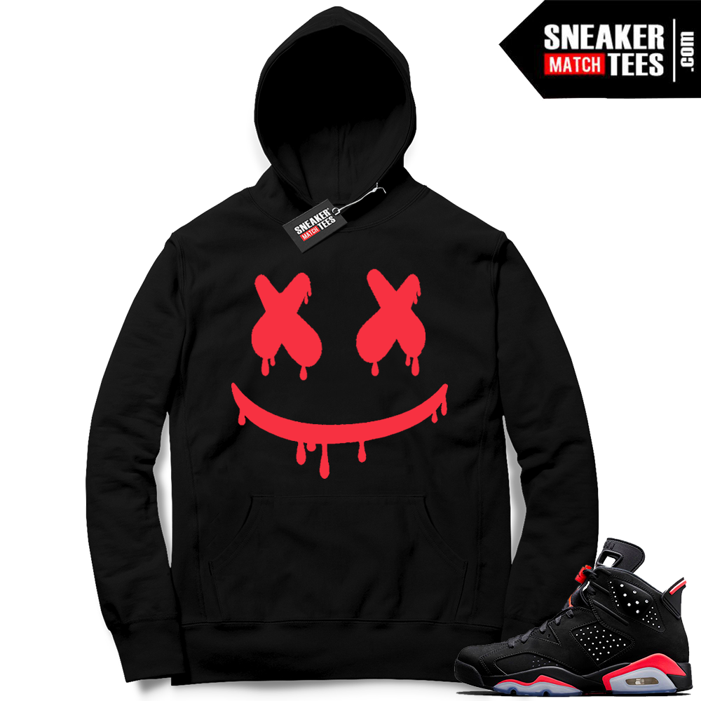 Match Black Infrared Hoodies