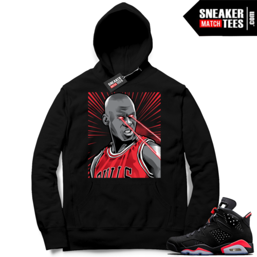 Match Infrared 6s Black Hoodie