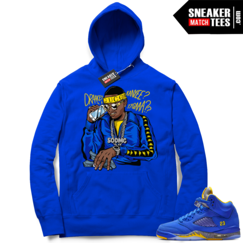 Match Laney 5s Royal Soulja Boy Hoodie
