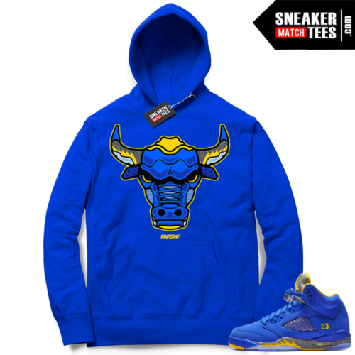 Royal Laney 5 Jordan Hoodie match