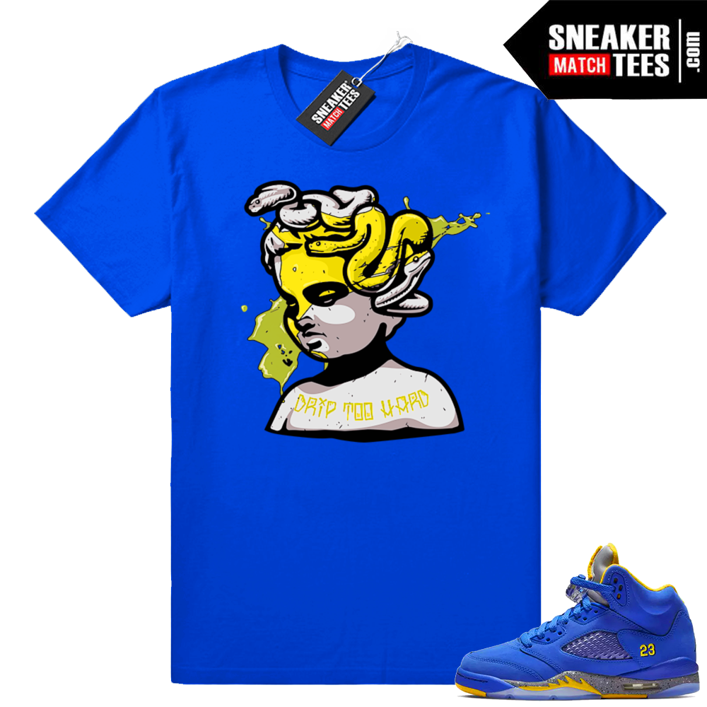 Shirts match Laney 5s Varsity Royal