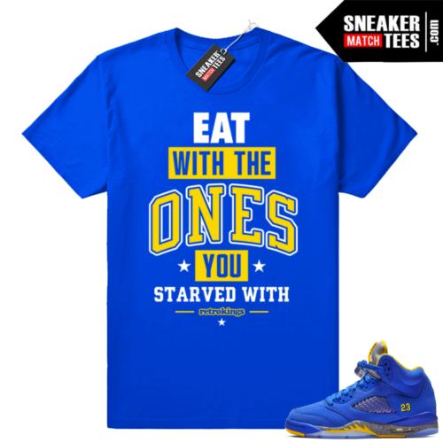 Sneaker tees Jordan 5 Laney Royal