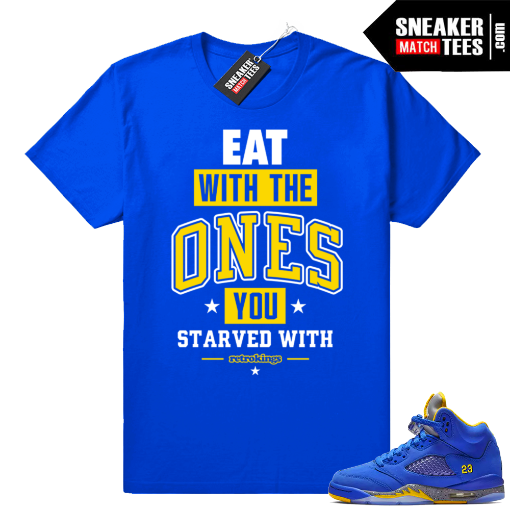 Sneaker tees Jordan 5 Laney Royal