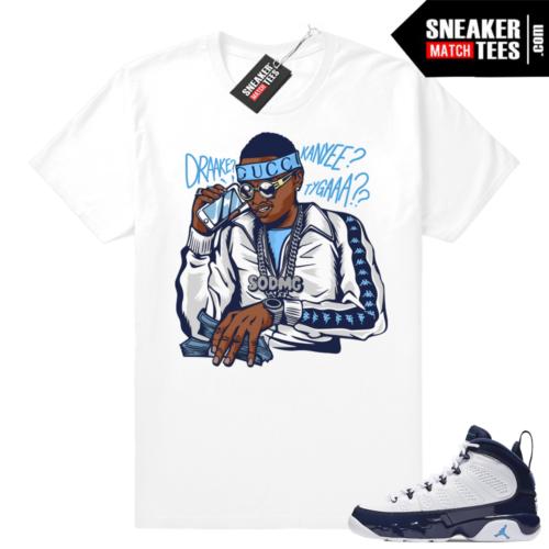 Soulja Boy Jordan 9 UNC shirt