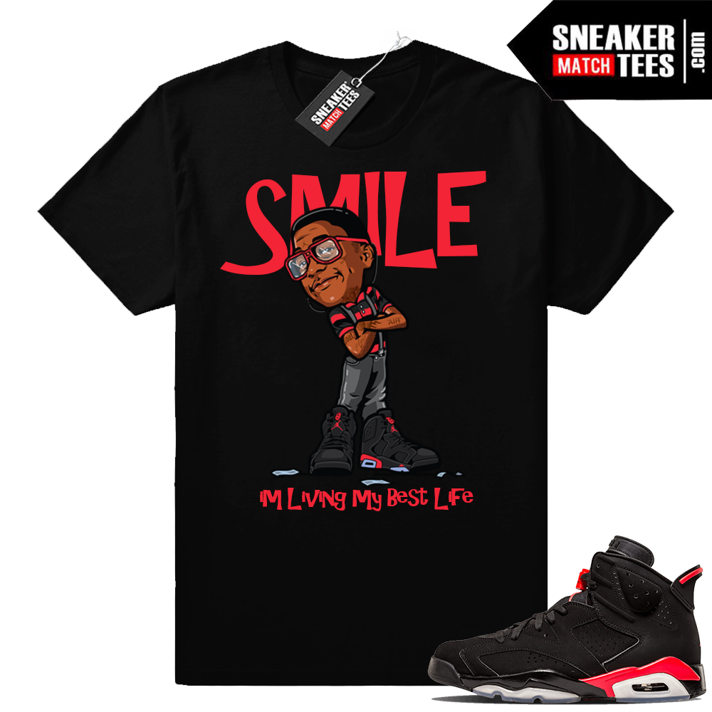 Air Jordan 6 Black Infrared sneaker tees