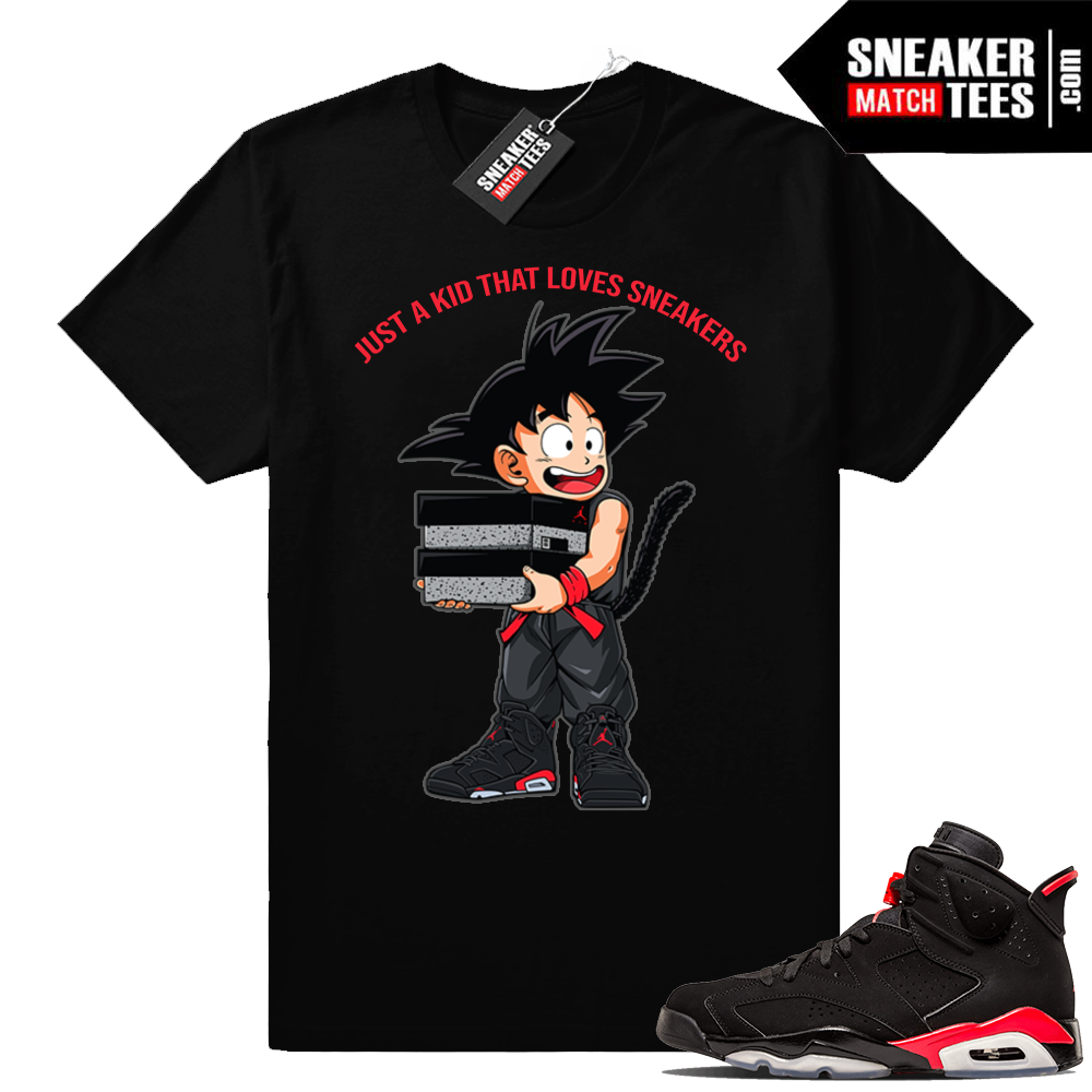 Air Jordan 6 Black Infrared tee shirts