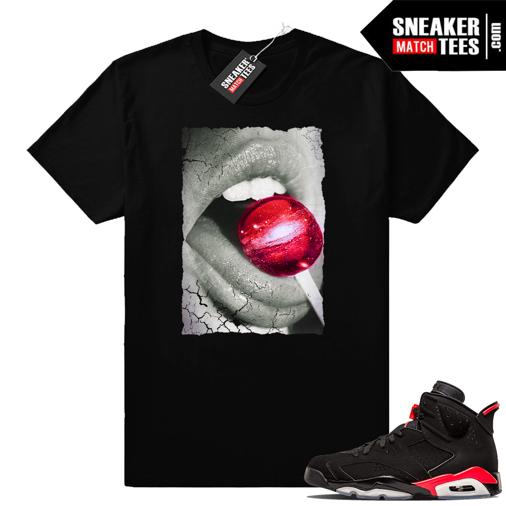 Air Jordan 6 infrared matching sneaker tees