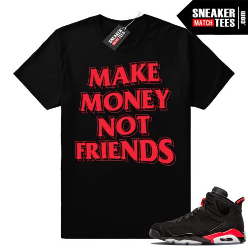 Air Jordan 6s Black Infrared match sneaker tees