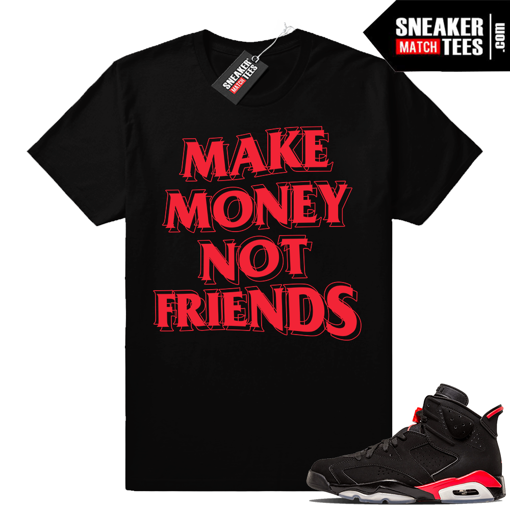 Air Jordan 6s Black Infrared match sneaker tees
