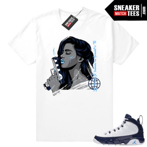 Air Jordan 9 Pearl Blue match shirts