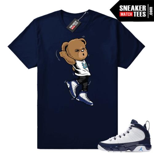 Air Jordan 9 UNC Shootin Bear shirt