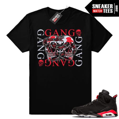 Black Jordan 6 Infrared shirts