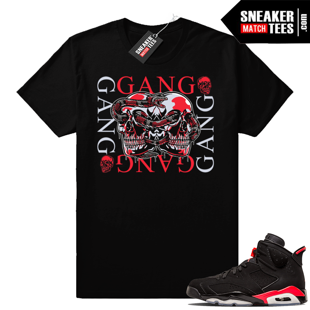 Black Jordan 6 Infrared shirts