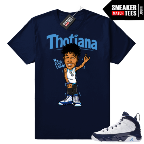 Blue Face Thotiana UNC 9s Sneaker tees