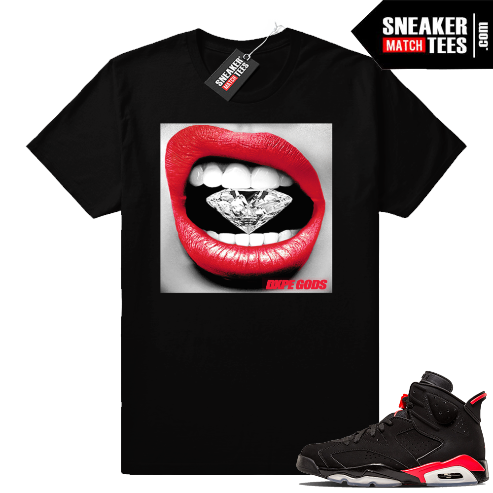 Diamond Lips Infrared 6s sneaker tees